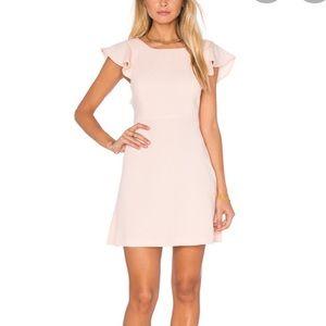 BCBGeneration pink ruffle dress size 6